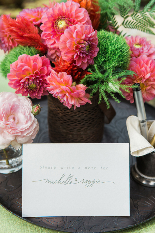 San Ysidro Ranch Wedding - Guest Book Table Sign in - by Rosemary Events & Tiny Pine Press