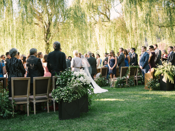Bridal Processional at Napa Valley Wedding