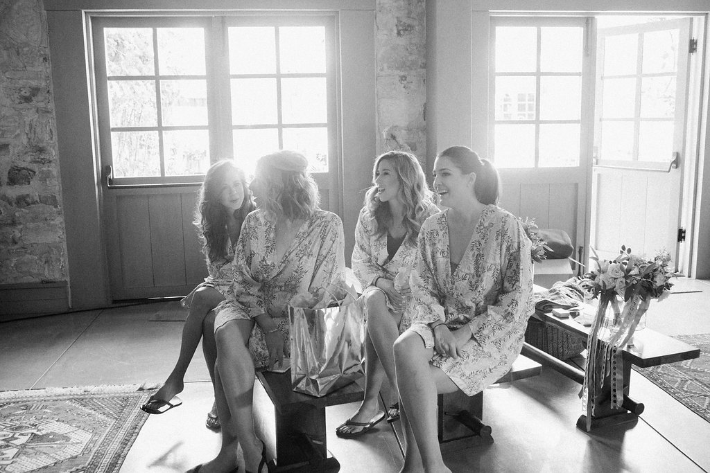 Bridesmaids Plum Pretty Sugar Robes - Photo by Corbin Gurkin,