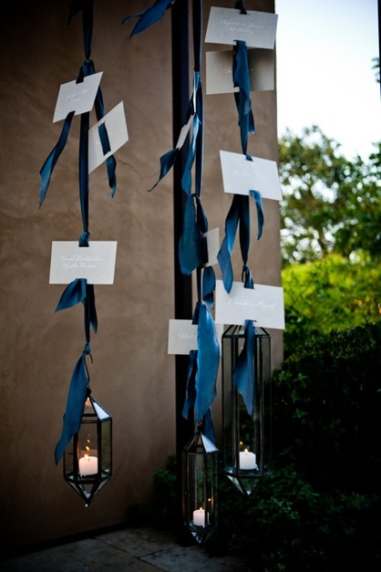 Escort Card Display - Sillapere & Tiny Pine Press at Rosemary Events wedding