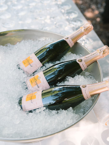 Champagne in a bucket - Rosemary Events wedding