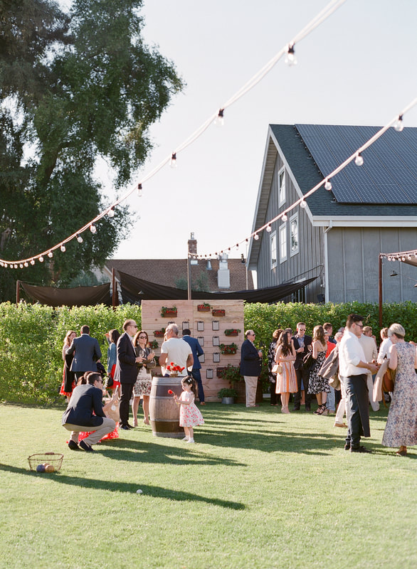 Welcome Party at Farmstead  Long Meadow Ranch by Rosemary Events & Mindy Rice Design Photo by Jose Villa #welcomeparty #lawngames #napavalleyweddingplanner