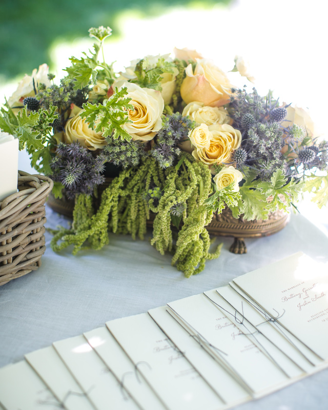 Welcome Table Arrangement - Nicole Sillapere Floral Designer, Programs by Tiny Pine Press