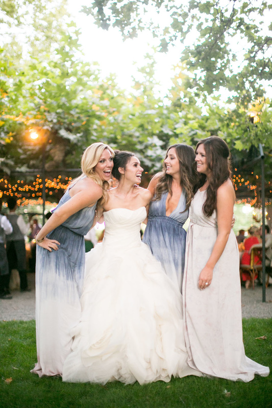 Bride & Bridesmaids, Gown by Vera Wang, Bridesmaid Dress by Love Shack Fancy, www.rosemaryevents.com