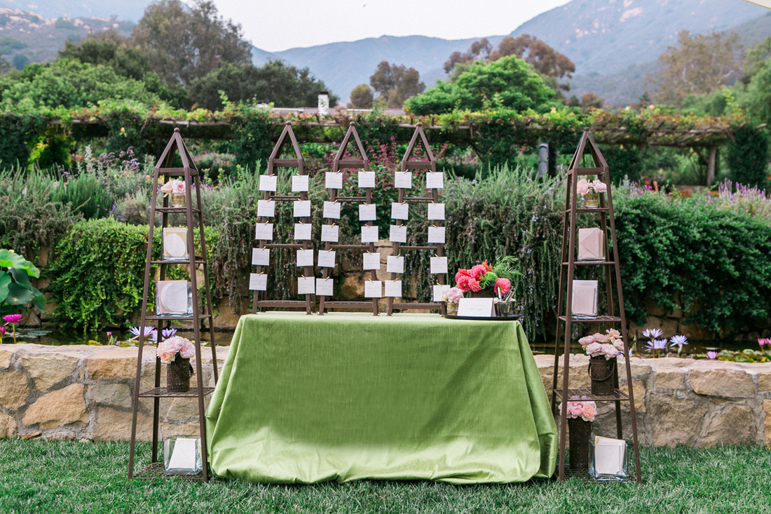 Escort Card Table by Sillapere & Rosemary Events, Santa Barbara Wedding