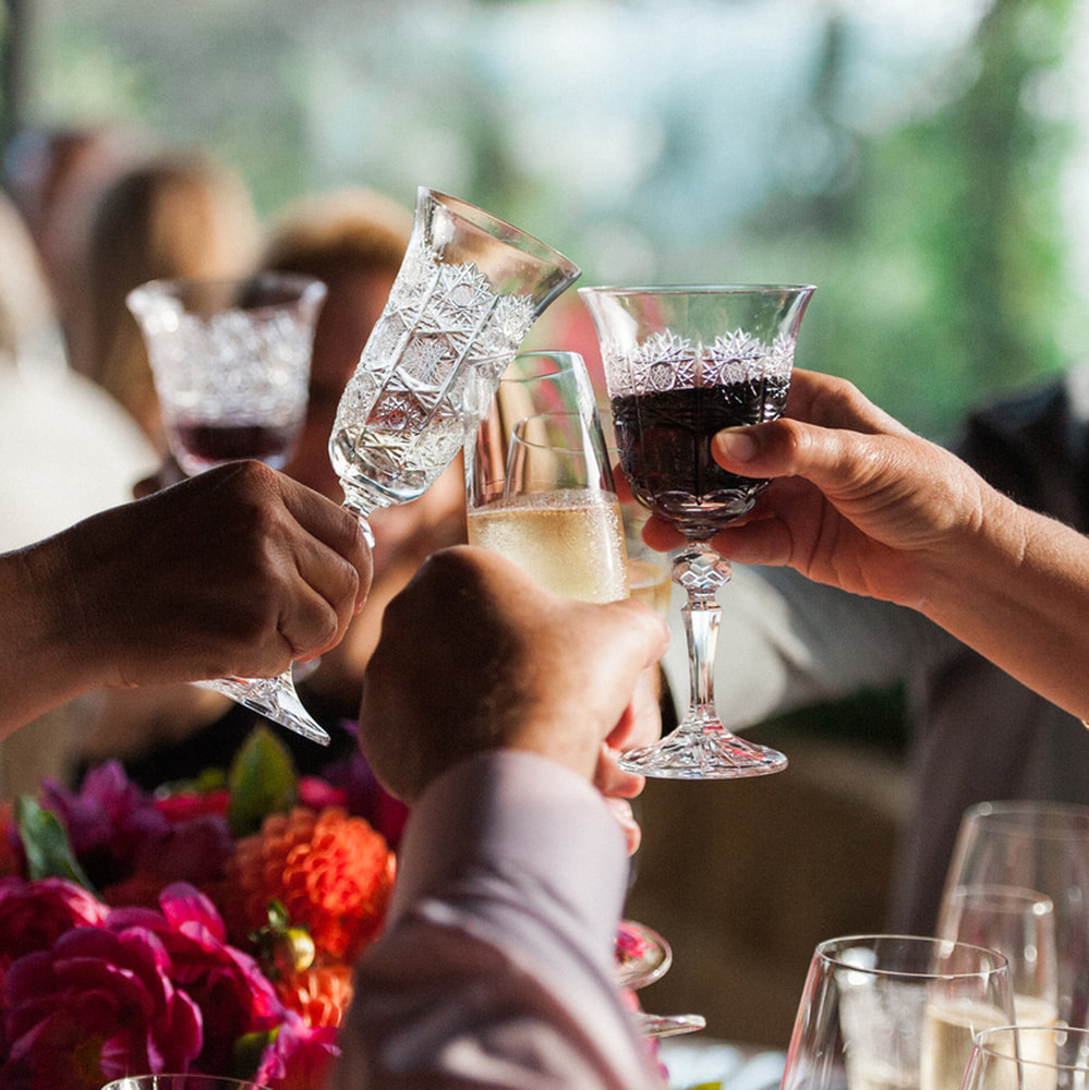 Toasting in Style - Casa de Perrin & Rosemary Events