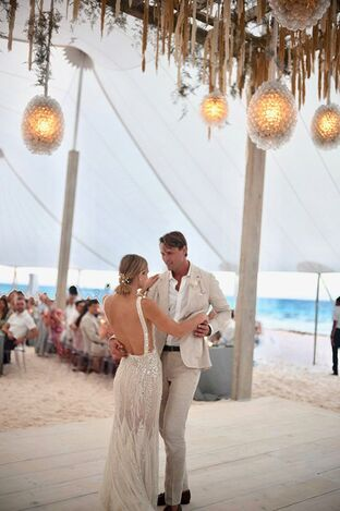 First Dance. Destination Wedding Harbour Island Bahamas w/ Rosemary Events & Sarah Winward. Photo by John Dolan